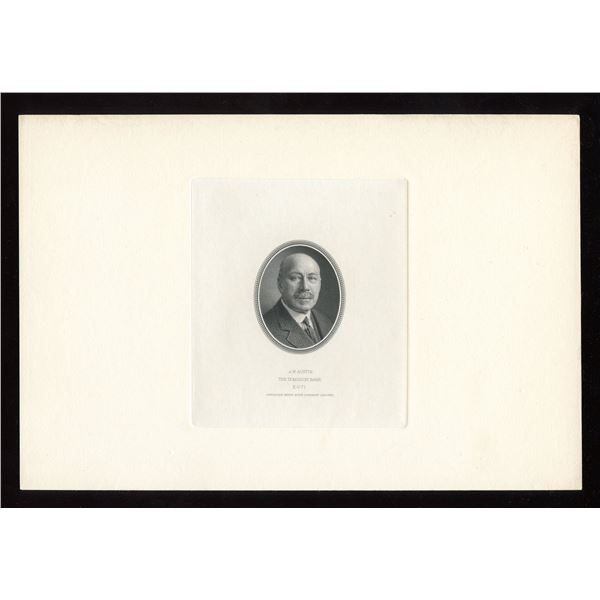 Dominion Bank,set of die proof vignettes for the portraits shown on all five denominations of the i