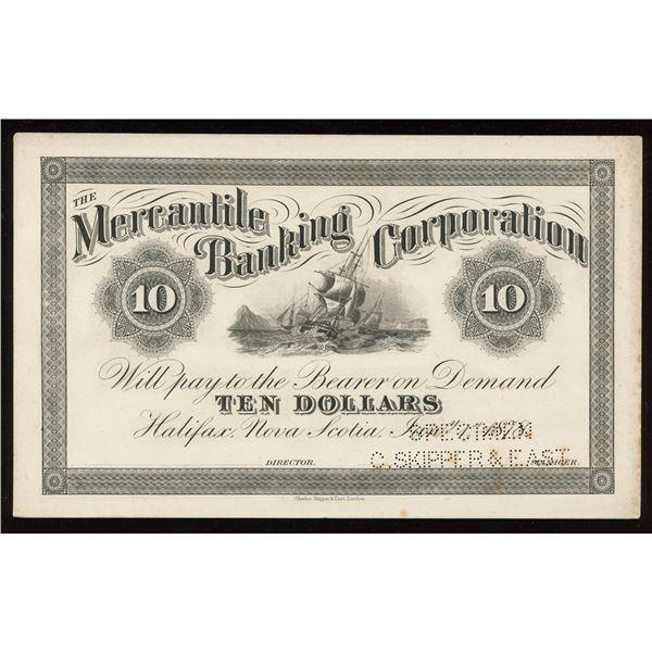 Mercantile Banking Corporation $10, 1878