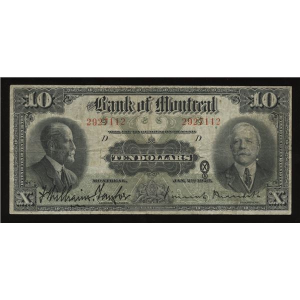 Bank of Montreal $10, 1923