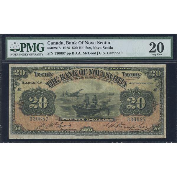 Bank of Nova Scotia $20, 1925
