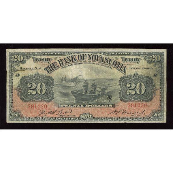 Bank of Nova Scotia $20, 1929