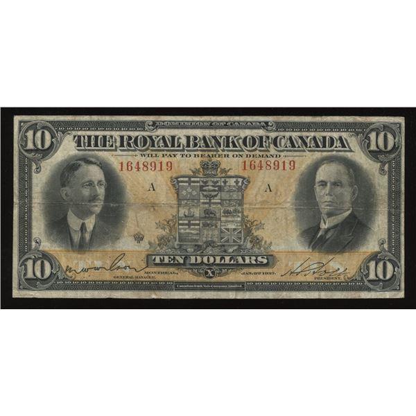 Royal Bank of Canada $10, 1927