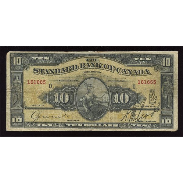 Standard Bank of Canada $10, 1924