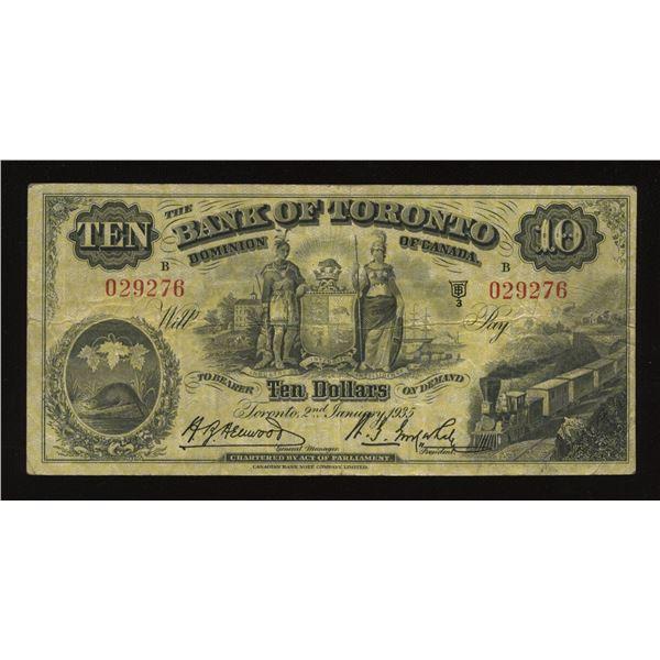 Bank of Toronto $10, 1935