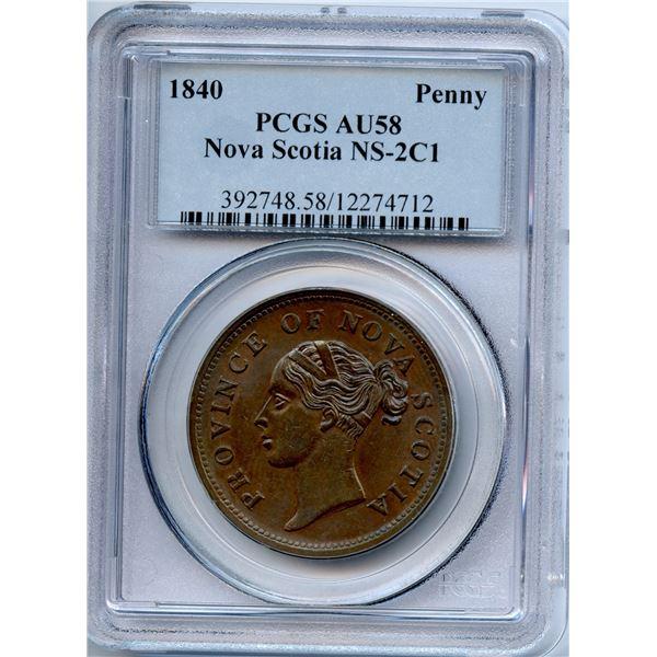 Nova Scotia One Penny, 1840