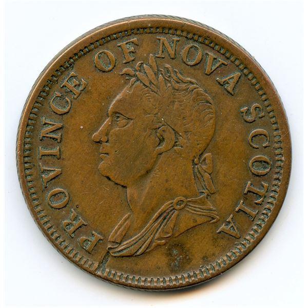Lot of 2 Nova Scotia, 1832 One Penny Tokens.