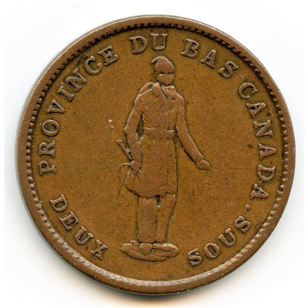 Lot of 3 Habitant 1837 tokens.