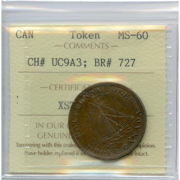 BR 727, UC-9A3  Half Penny Token