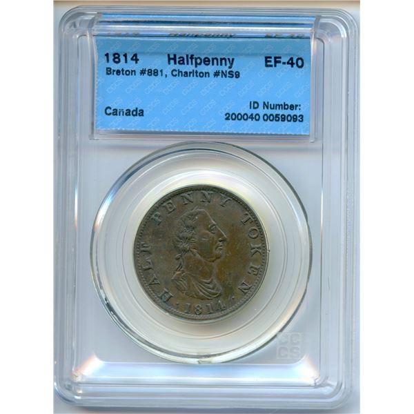 BR 881, NS-9  Half Penny Token