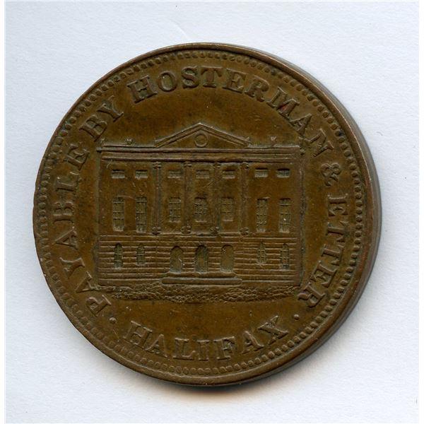 BR 882, NS-10A  Half Penny Token