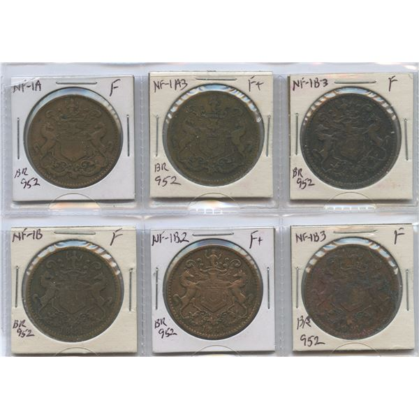 Br. 952.  Lot of six Rutherfords.