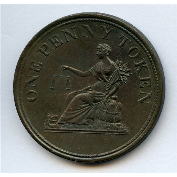BR 958, LC-47B1   One Penny Token