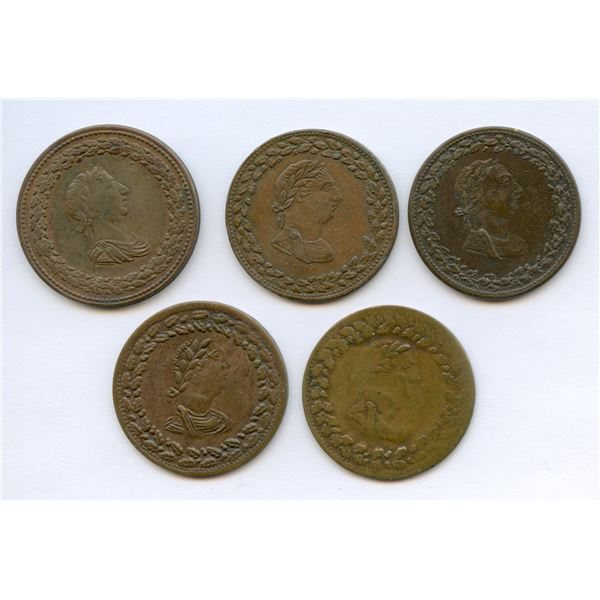 BR 960 - Lower Canada Token Lot of 5