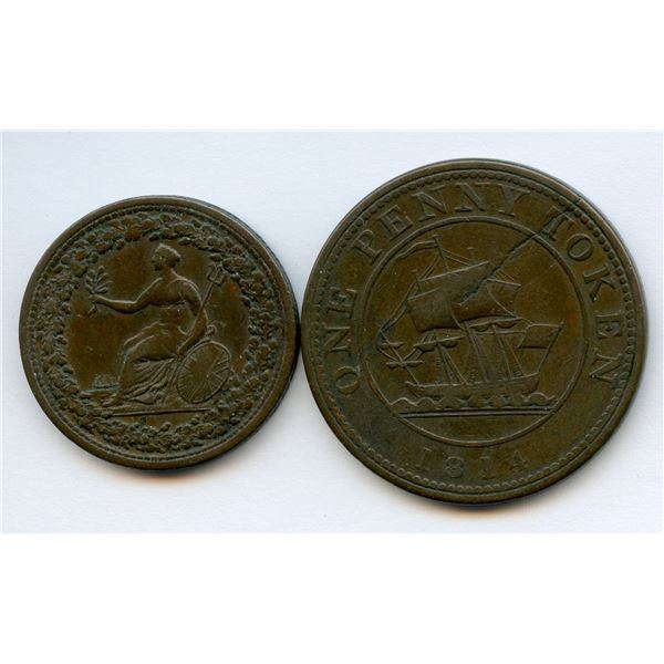 Lower Canada Token Lot of 2