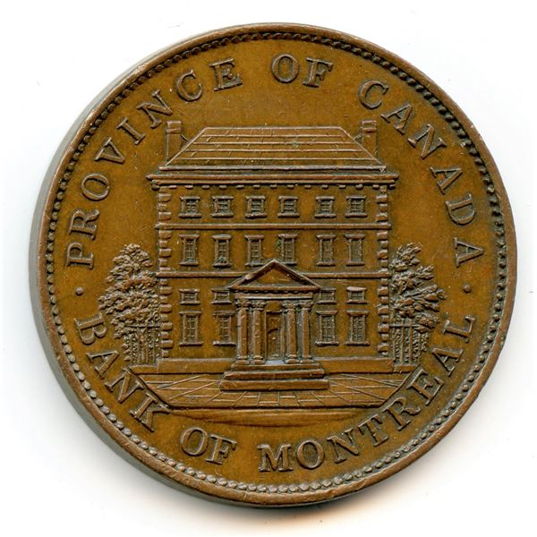 So Called Mule of the Bank of Montreal / 1837 City Bank One Penny
