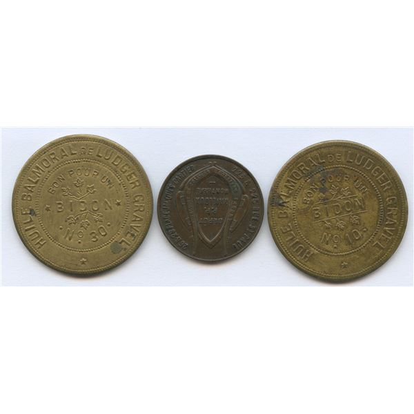 Group of three Gravel tokens.