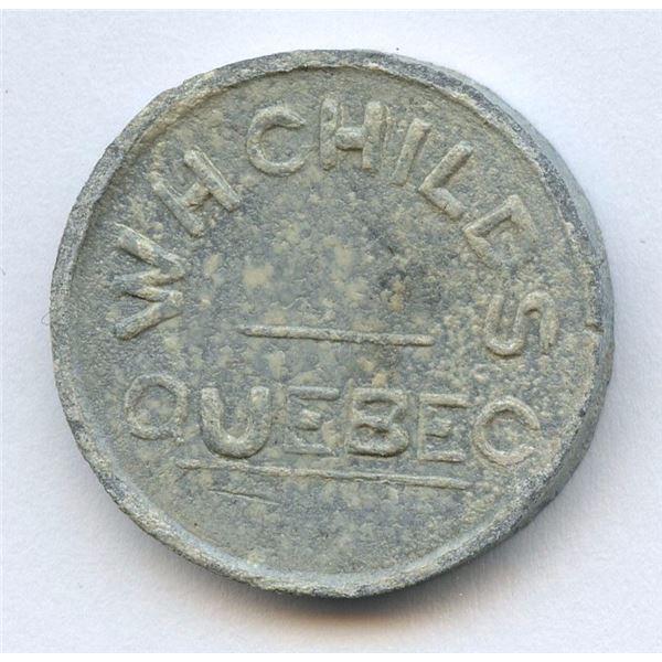 Br. 669, W. H. Childs' Token, Quebec. ½ Pain Bis