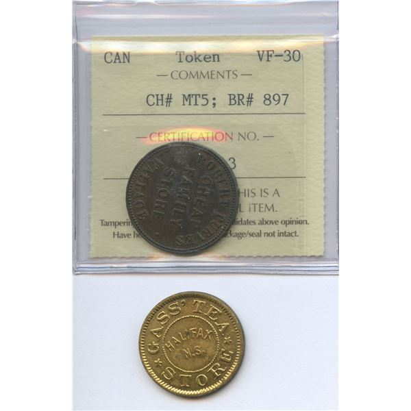 Br. 897, 902.  Group of two Nova Scotia tokens.
