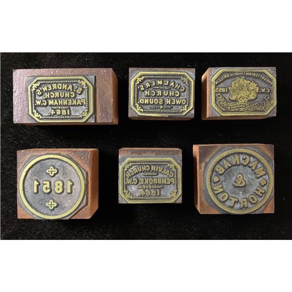 Canadian Communion Token Stamps
