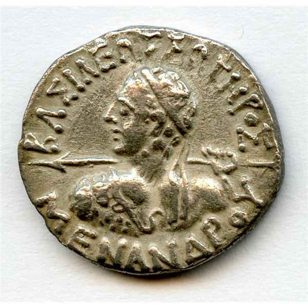 BAKTRIA, Indo-Greek Kingdom. Menander I. ca. 165/55-130 BC. AR Drachm