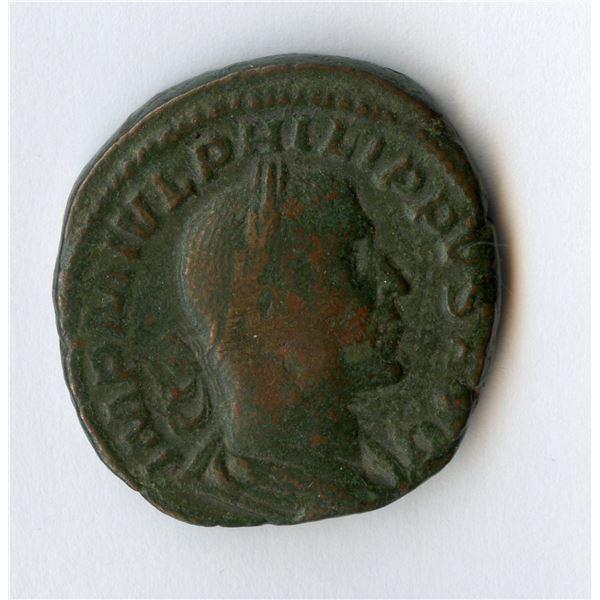 Roman Imperial - Philip I. 244-249 AD. AE Sestertius