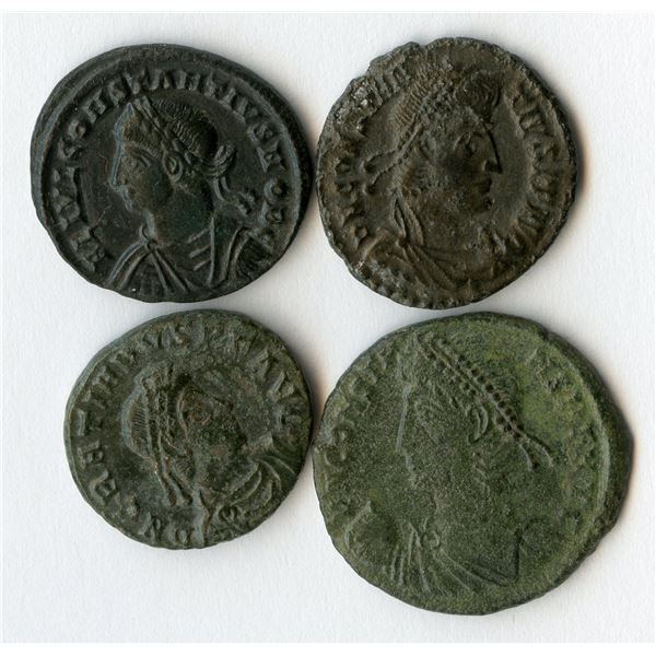 Roman Imperial - 4th Century Emperors, AE Group. Lot of 4