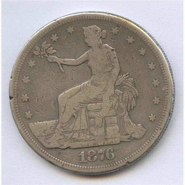 1876 USA Trade Silver Dollar