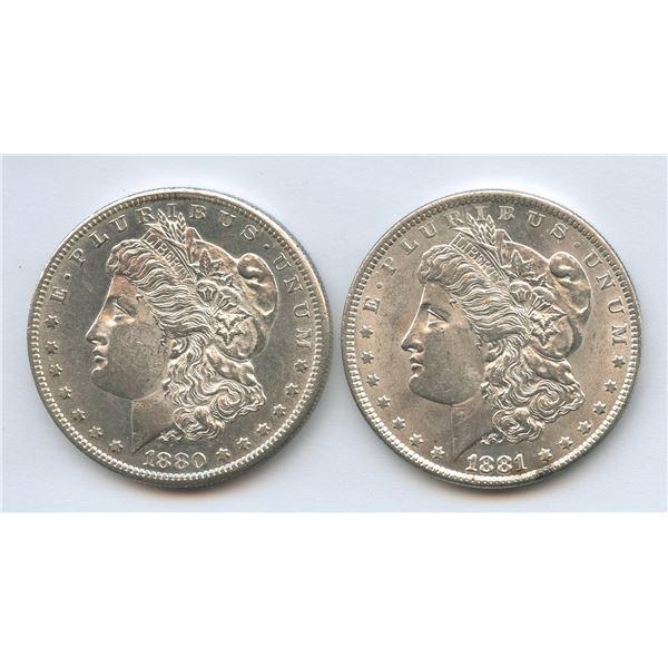 1880s & 1881 USA Morgan Silver Dollars