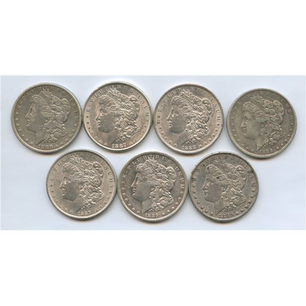 USA Morgan Silver Dollars - Lot of 7