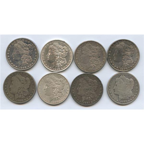 USA Morgan Silver Dollars - Lot of 8