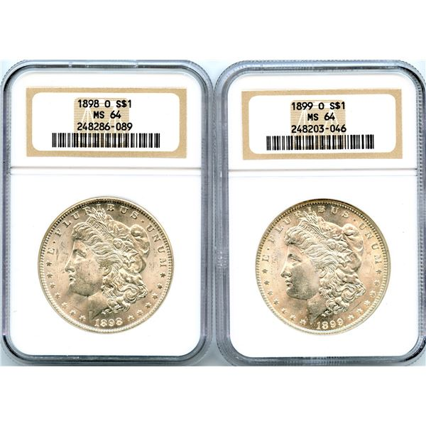 Lot of 2 Morgan Dollars.