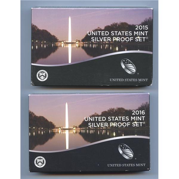 2015 & 2016 USA Proof Sets
