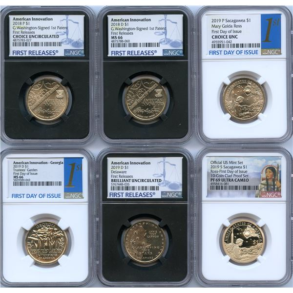 USA Modern Graded Coin Lot of 9