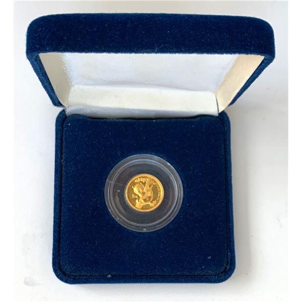 1996 Chinese 5g Gold Panda