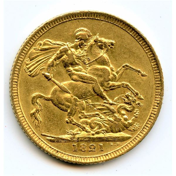 1821 George IV Gold Sovereign.
