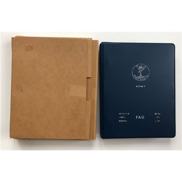 1971-1973 Complete BLUE FAO World Coin Album W/ Silver/Proof Coins As Issued.
