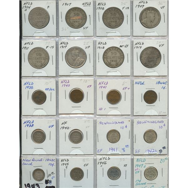 Newfoundland - Lot of 20 Coins