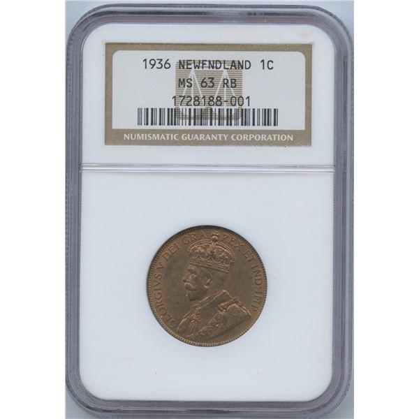 1936 Newfoundland One Cent