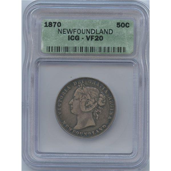 1870 Newfoundland Fifty Cents