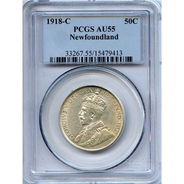 1918c Newfoundland Fifty Cents