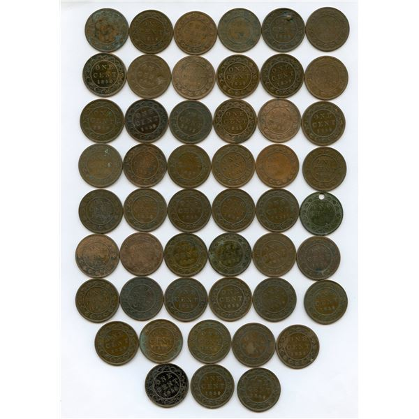 1859 One Cents - Lot of 50