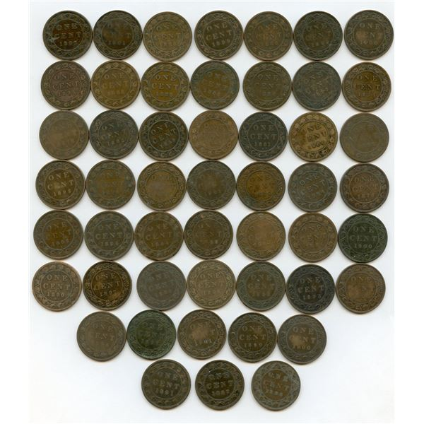 Victoria Large Cents - Lot of 50