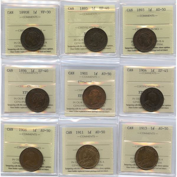 Small & Large Cents - All ICCS Graded