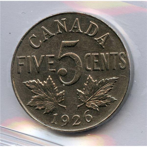 1926 Five Cents - Near 6