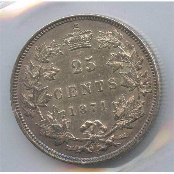 1871H Twenty-Five Cents