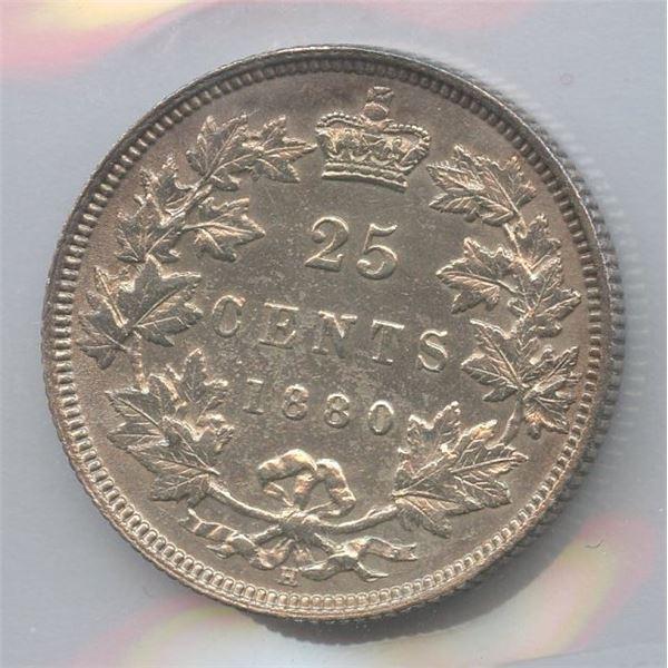 1880H Twenty-Five Cents - Narrow 0