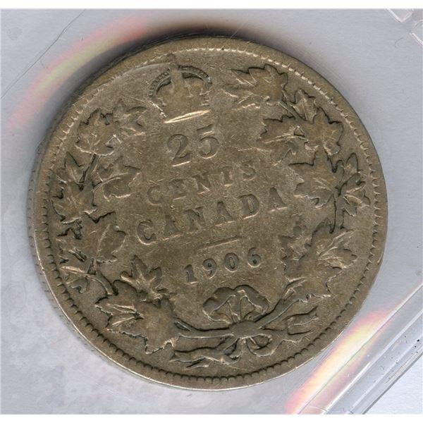 1906 Twenty-Five Cents - Small Crown