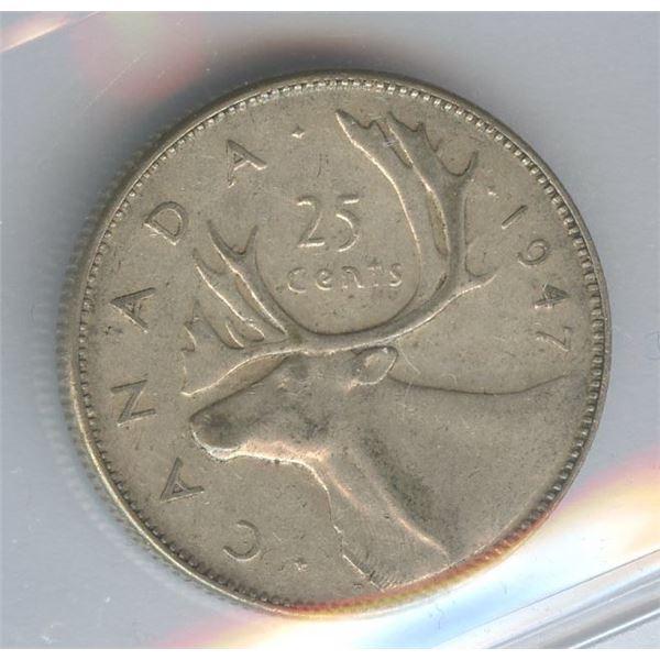 1947 Twenty-Five Cents - Dot