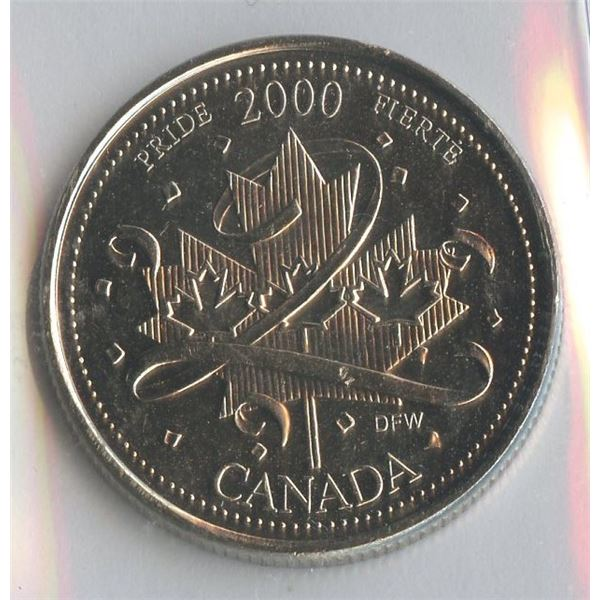 2000 Twenty-Five Cents Pride
