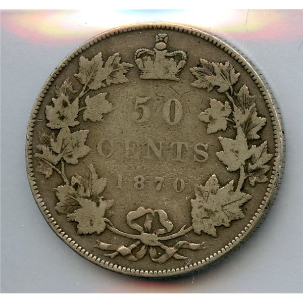 1870 Fifty Cents - L.W.C.